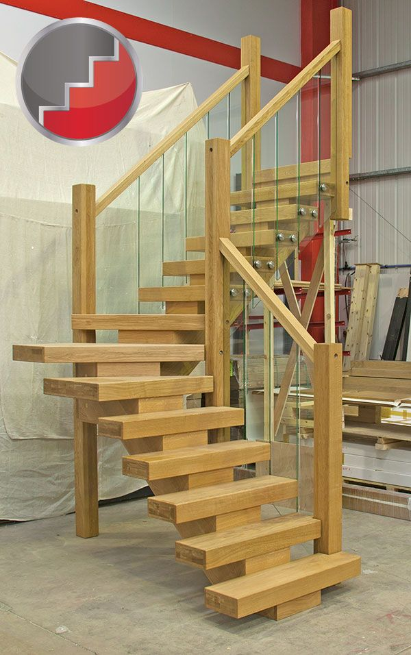 Best X Vision Winder Staircase Oak And Glass Staircase Trappen 400 x 300