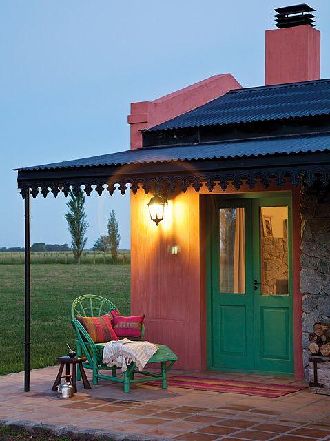 Tres casas con estilo campo patios ideas para and porch for Texas ranch piani casa con portici
