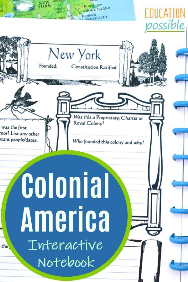 Photo of Make this Colonial America interactive notebook a key part of your middle school…