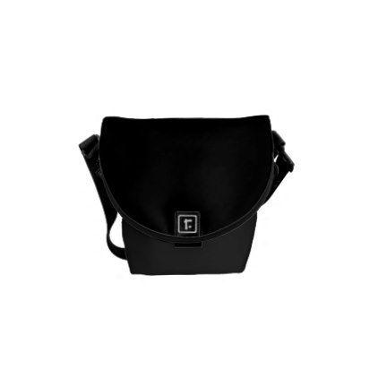 29955eff8ec0 Black Mini Messenger Bag - plain gifts style diy cyo