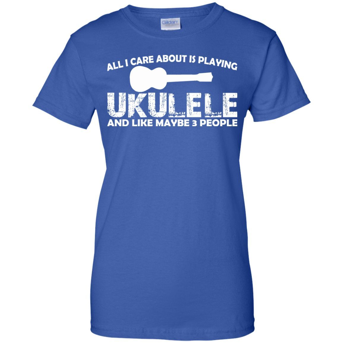 All I Care About Is Playing Ukulele T-Shirt