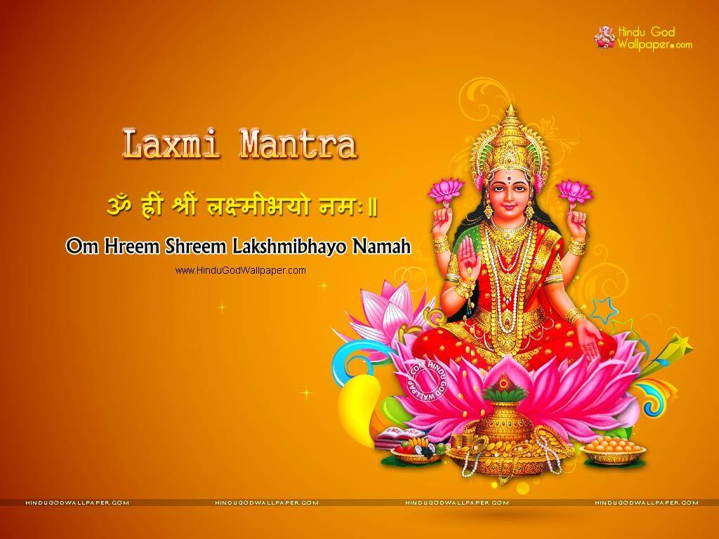 Laxmi Mantra Wallpaper | Mantras | Wallpaper free download