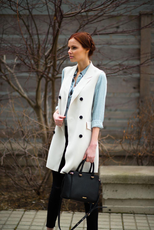 Topshop Premium Sleeveless Jacket The A List