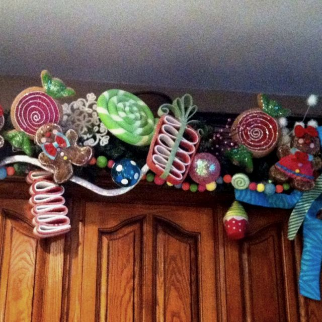 Gingerbread And Candy Themed Garland Christmas Garland Candy Christmas Decorations Christmas Decorations