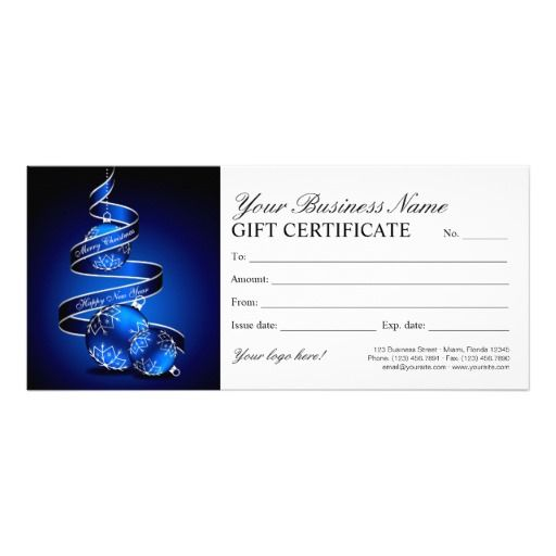 Christmas And Holiday Gift Certificates Template Christmas And