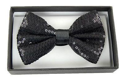 Unisex Blue Sequin Tuxedo Classic BowTie Neckwear Adjustable Blue Bow Tie