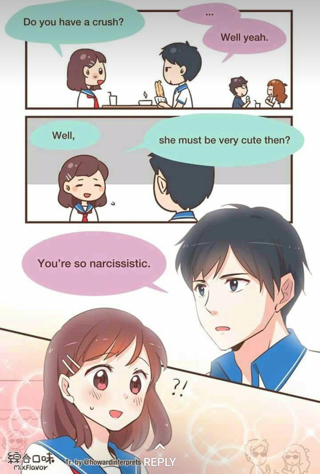 Anime cute couple   Dessin kawaii manga, Images drôles ...