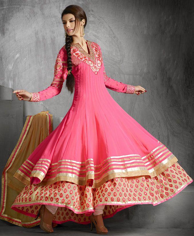double layered salwar kameez