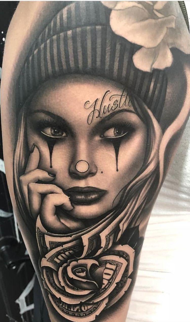Pin By Amy Penn On Tattoo In 2020 Badass Tattoos Gangsta Tattoos Day Of The Dead Girl Tattoo