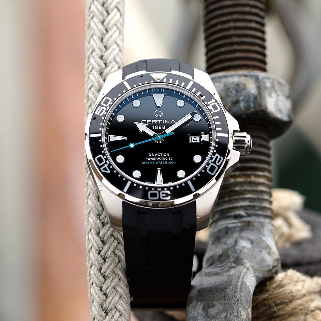 Kristian Haagen On Instagram The Latest Certina Ds Action Powermatic 80 Diver S Watch Hanging In The Ropes Certina Watches Stylish Mens Outfits Iwc Watches