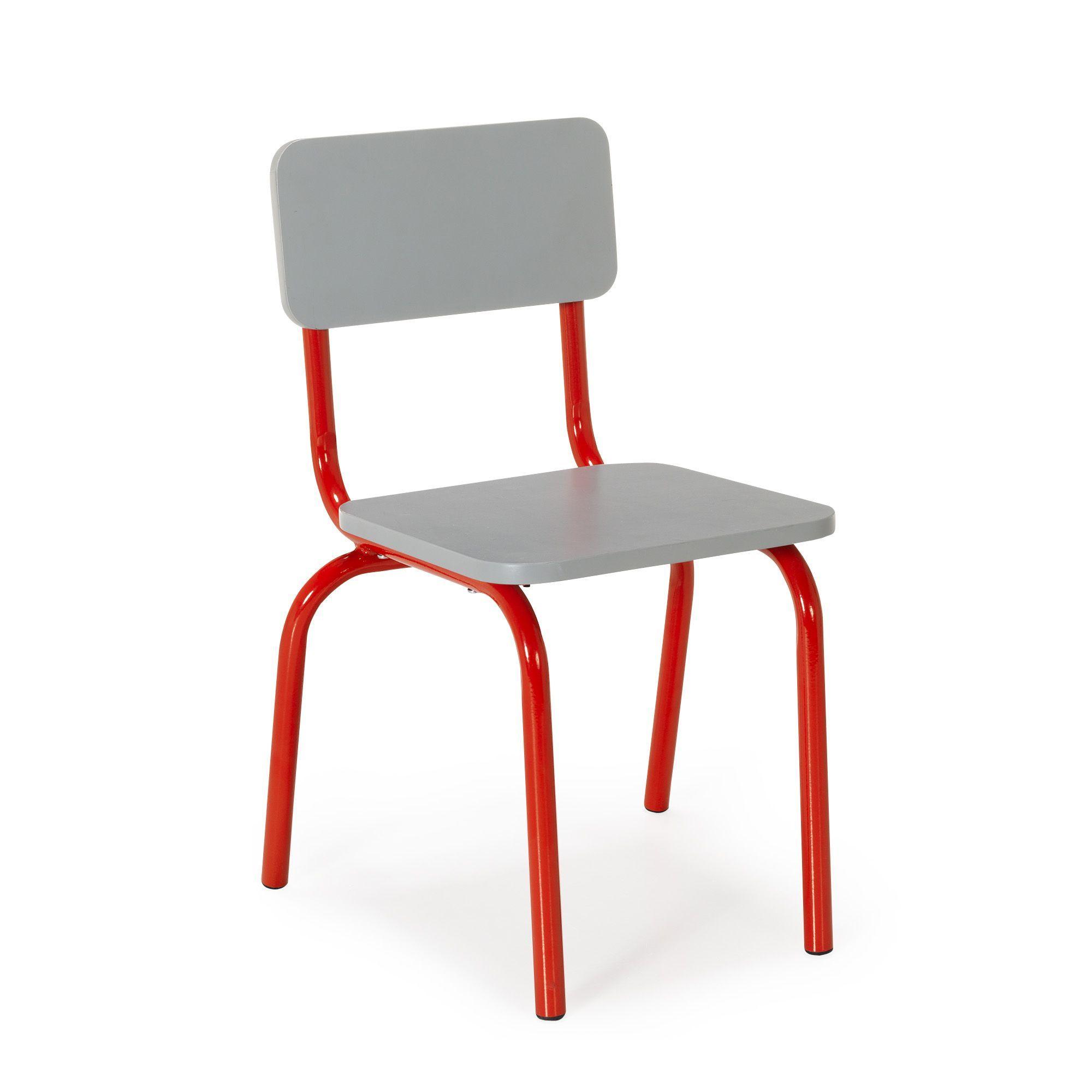 Chaise rouge pour enfant en métal Rouge Tubilo Les chaises et