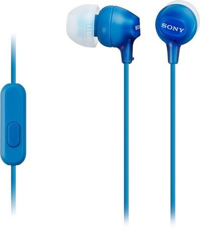 Sony Ex Series Mdrex14ap B Earbud Headphones Blue Headphones White Headphones Audio Headphones