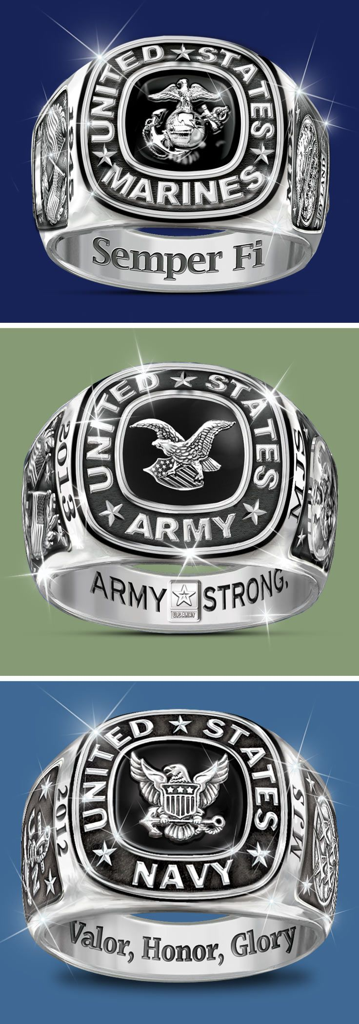 graduation personalized class rings military school high college