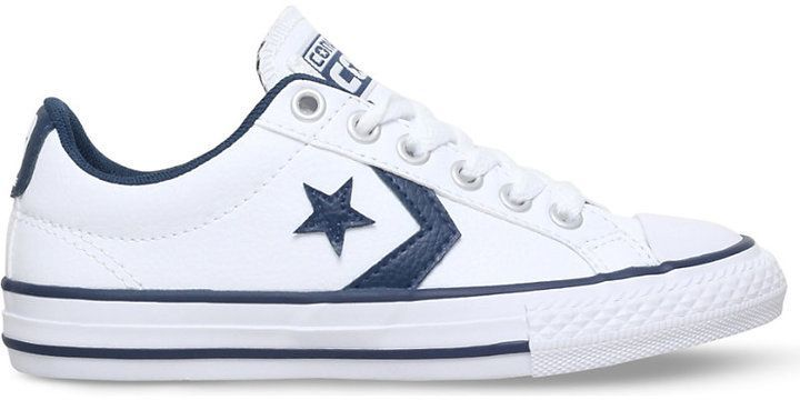 Converse Star player ev faux-leather trainers 4-9 years  menstrainers 45861a84b