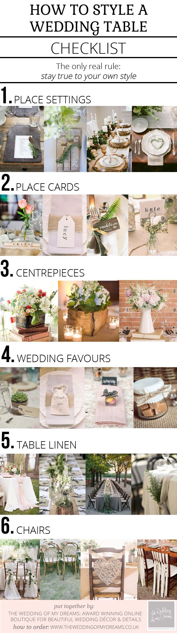 Wedding decorations on tables  How To Style A Wedding Table u Checklist  Wedding tables Weddings