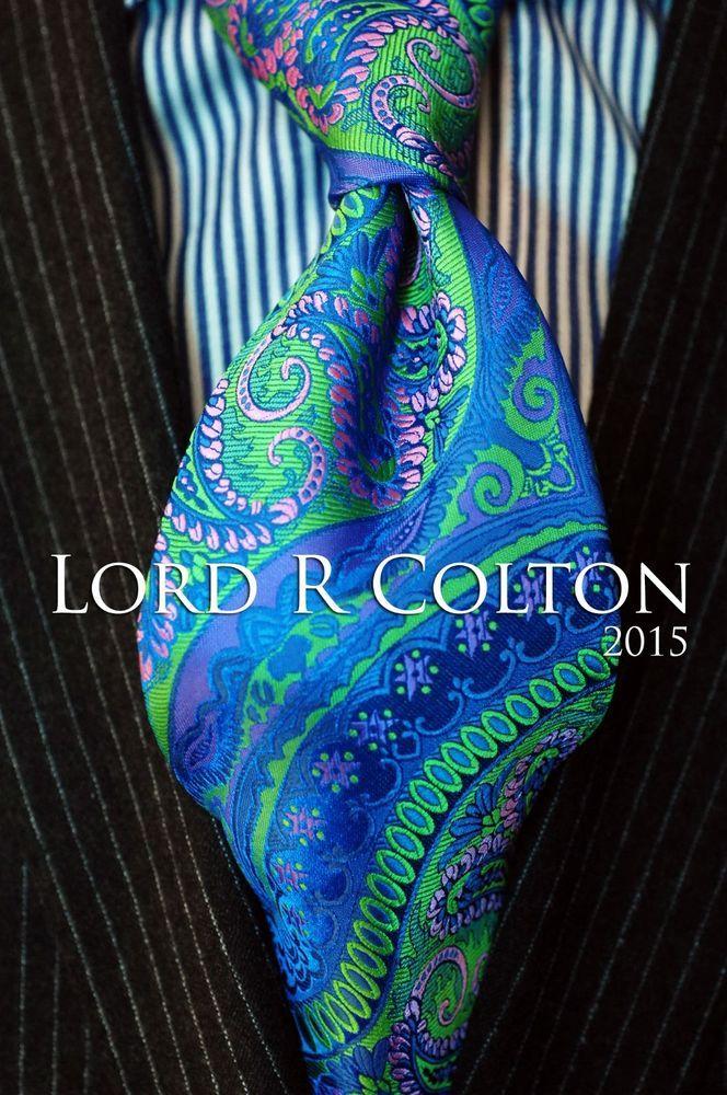 Lord R Colton Masterworks Tie - Galapogos Marine Stripe Silk Necktie - $195 New #LordRColton #NeckTie