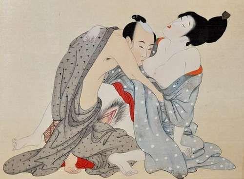 Японские секс гравюры