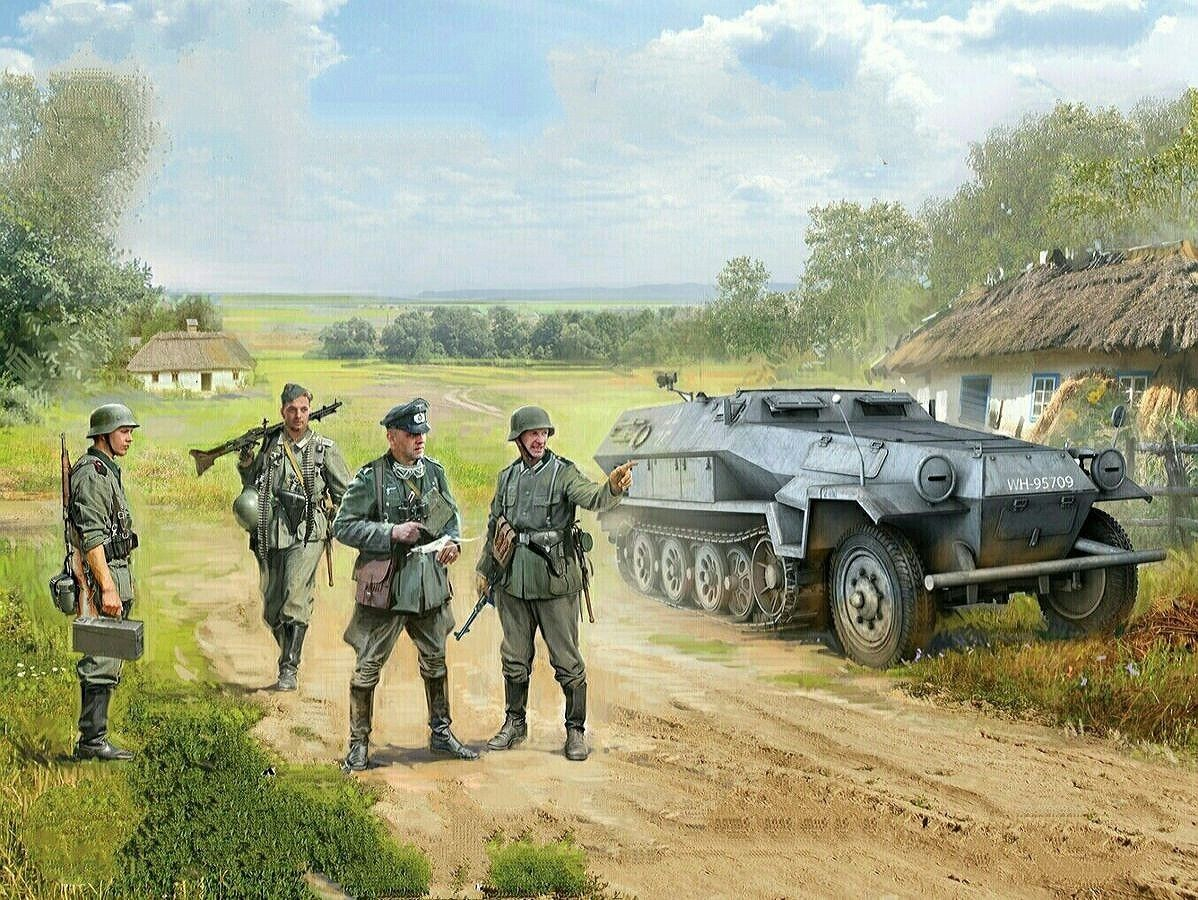 Pin By Jose Alonso Gonzalez On Afv Hanomag Military Illustration Infantry German