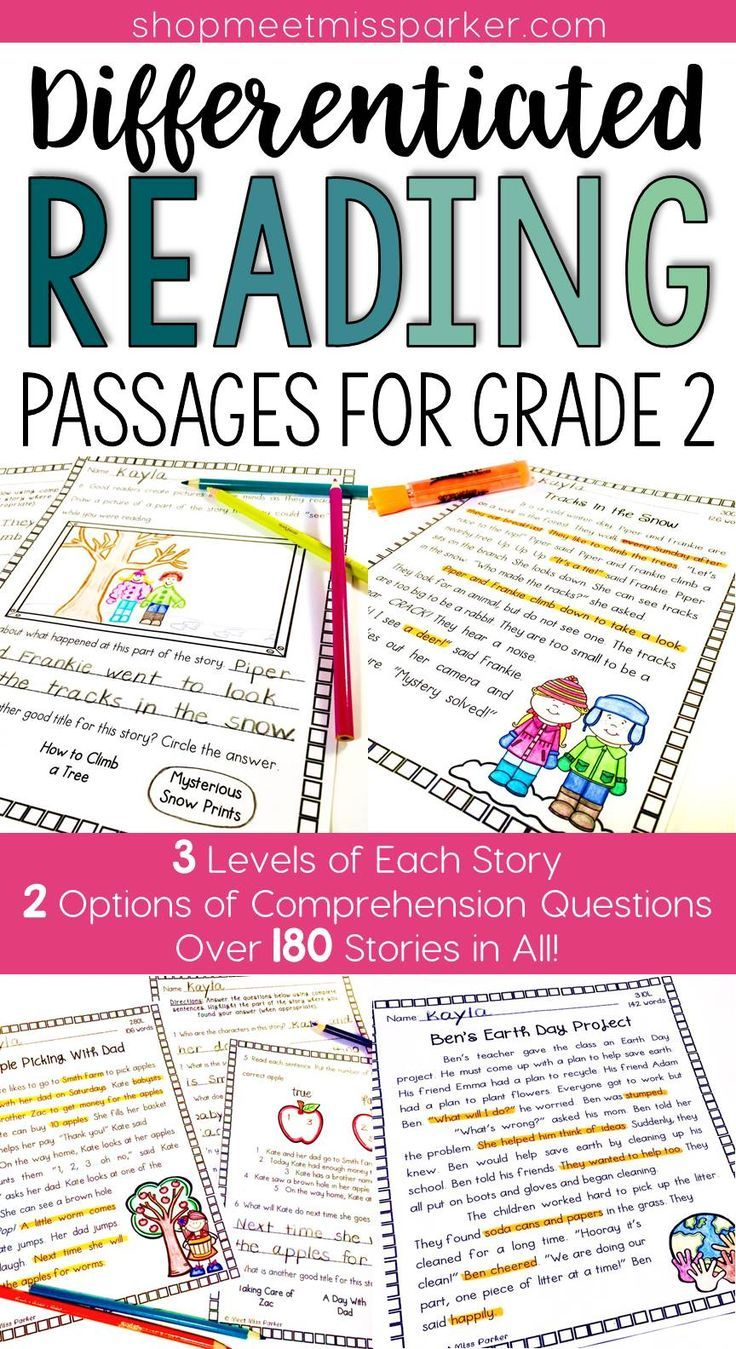 Differentiated Reading Comprehension Passages For Grade 2 Your Students Reading Comprehension Passages Differentiated Reading Differentiated Reading Passages [ 1349 x 736 Pixel ]