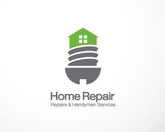 Home Repair Logo Design Home Repair Repairs And Handyman Services Br Br I Design Screw Mixed House Easy To Handyman Logo Maintenance Logo Logo Design