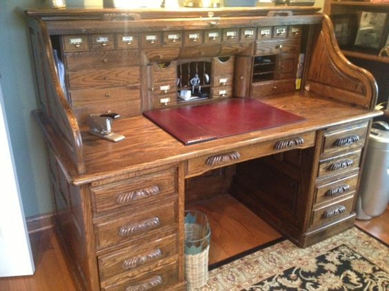 Old Roll Top Desk With Hidden Compartments Google Search Roll Top Desk Furniture Project Plans Desk