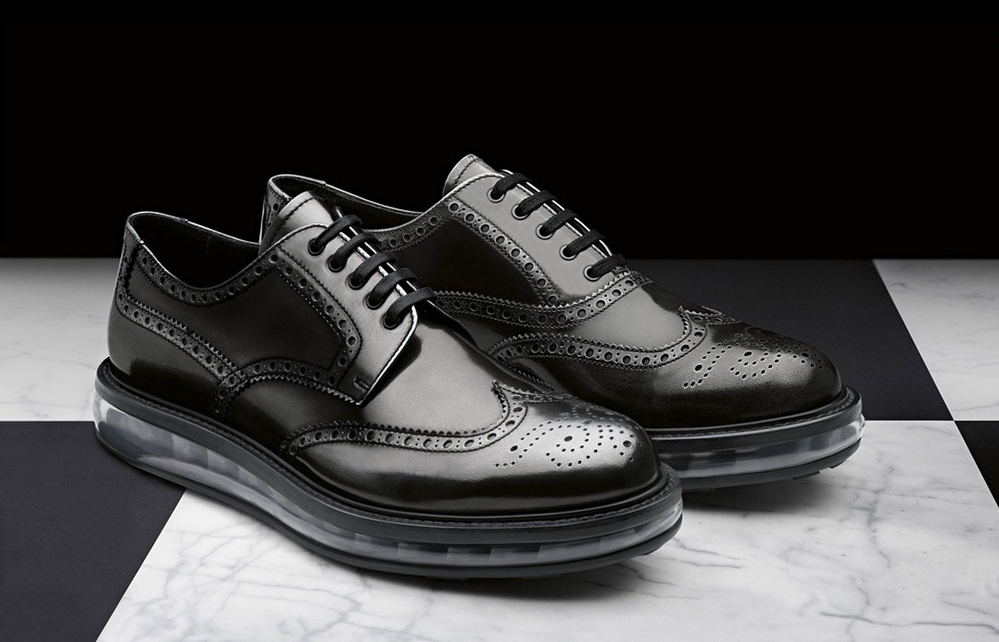 Brushed calf leather laced derby shoe