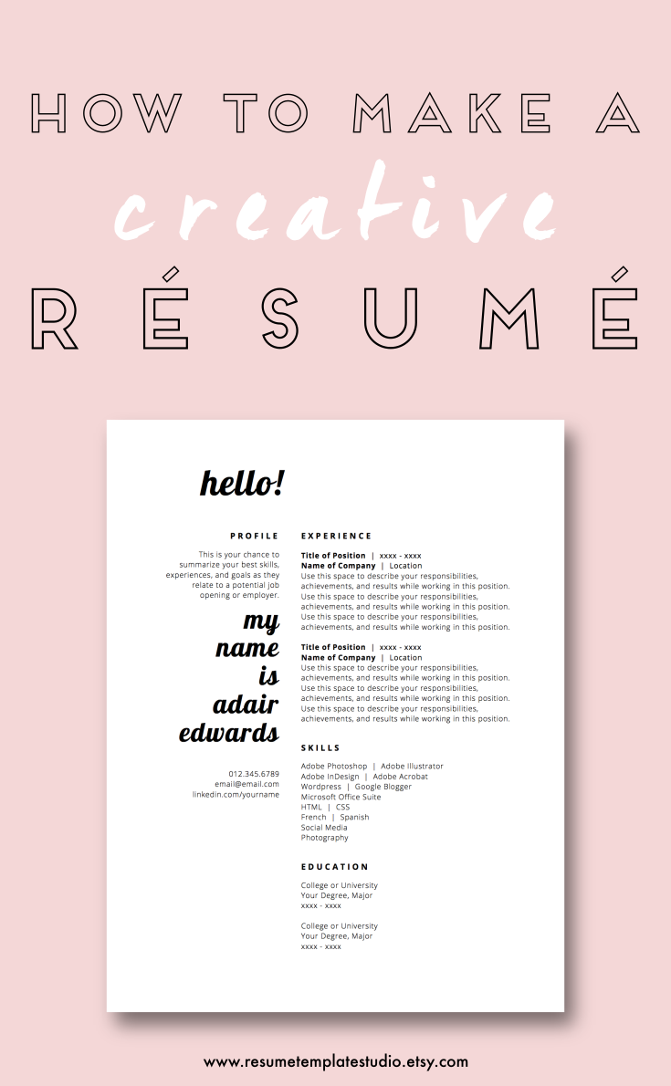 Creative Resume Templates and Resume Tips | Fashionista101 DIY ...