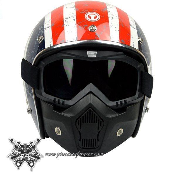 cba6f26a8b67d Máscara Para Casco Abierto Clásico + Gafas Modelo