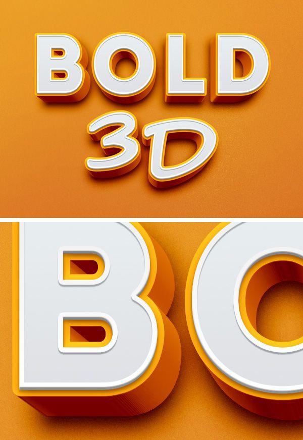 Bold 3d Psd Text Effect Free Download Free Joomla Templates