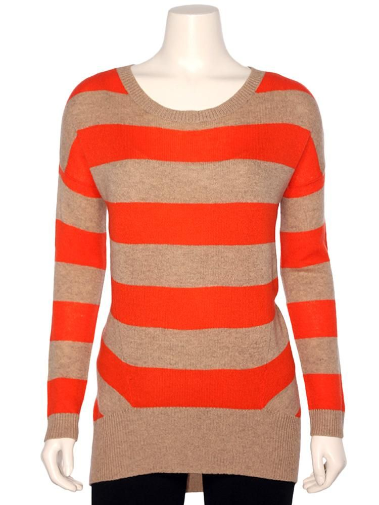 MAGASCHONI Women's Striped Cashmere Sweater