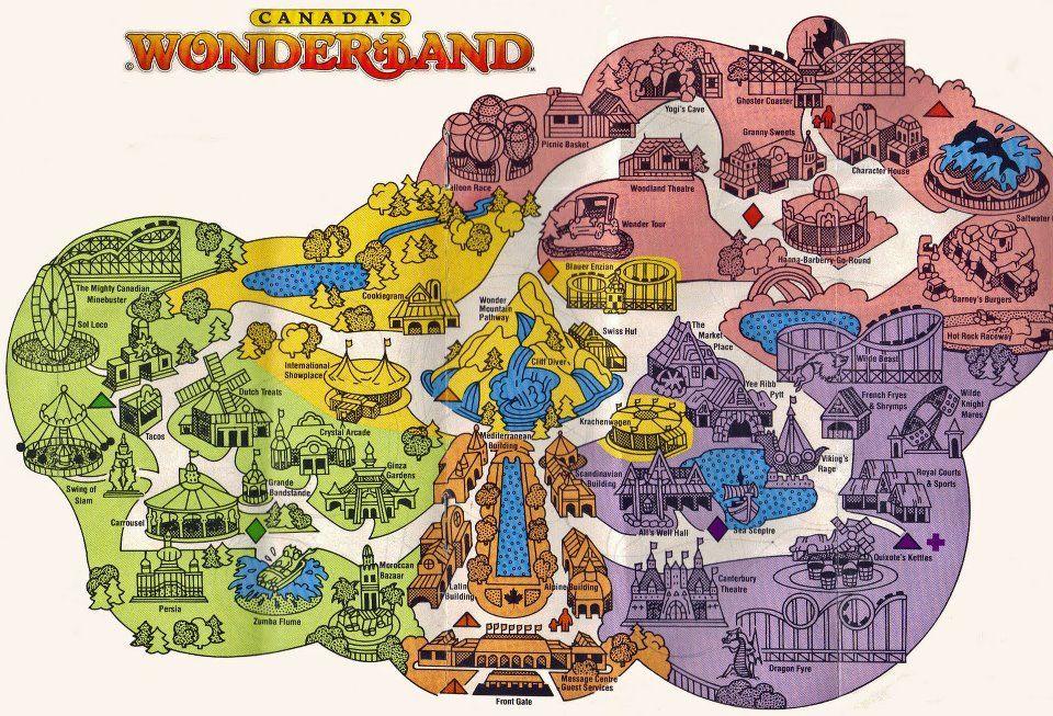 Map Of York Canada.Canada S Wonderland Map Circa 1981 Cryptids Theme Park Map
