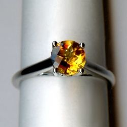 White Gold citrine ring. The color of this ring reminds me of fall! I love it! Available at Argo & Lehne Jewelers.