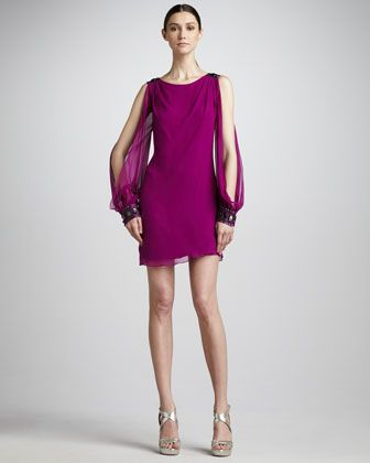 Cold-Shoulder Cocktail Dress by Aidan Mattox Niteline at Neiman Marcus.