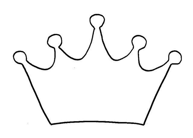 dibujo de corona para colorear | Happy | Pinterest | Crown, Stencils ...