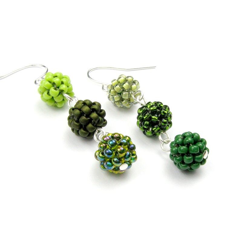 Maya Earrings, beaded bead tutorial