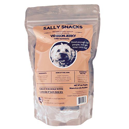 Made In The Usa Sally Snacks 100 Pure New Zealand Venison Jerky Dog Treats The Only Venison Venison Jerky Venison Meat Compare Dog Food