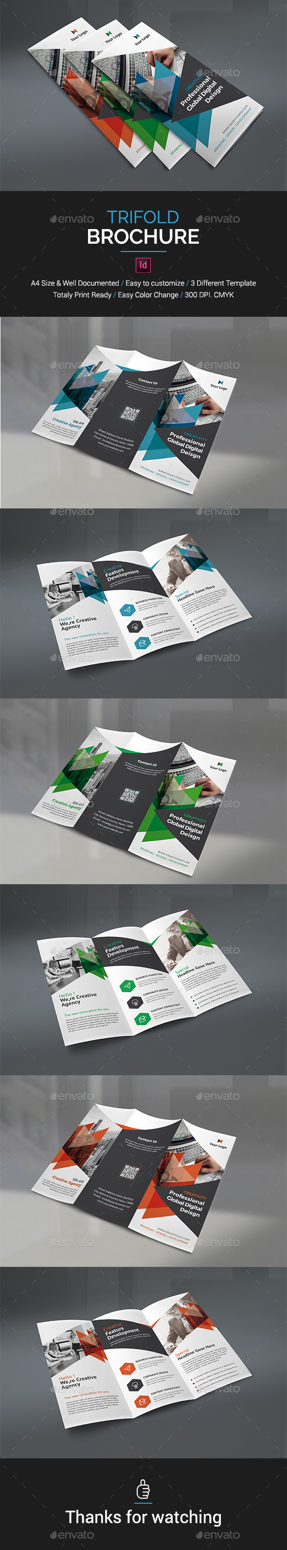 Trifold Brochure Template InDesign INDD   Brochure Templates ...