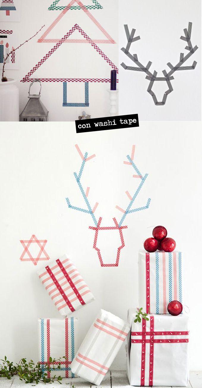 Decoración de Navidad | Washi, Decoración navideña y Manualidades ...
