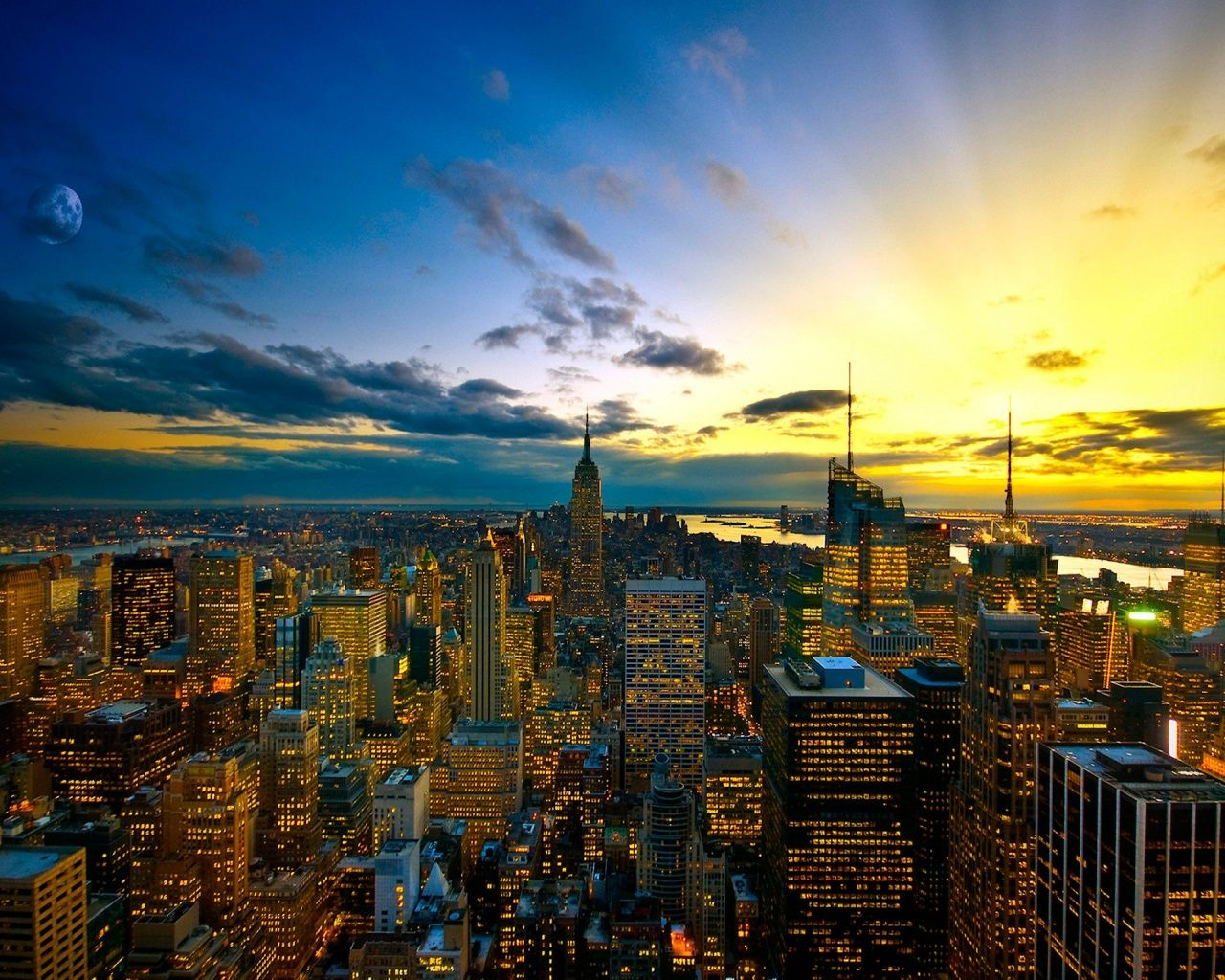 New York Ny New York Wallpaper New York Sunset Beautiful Places To Visit