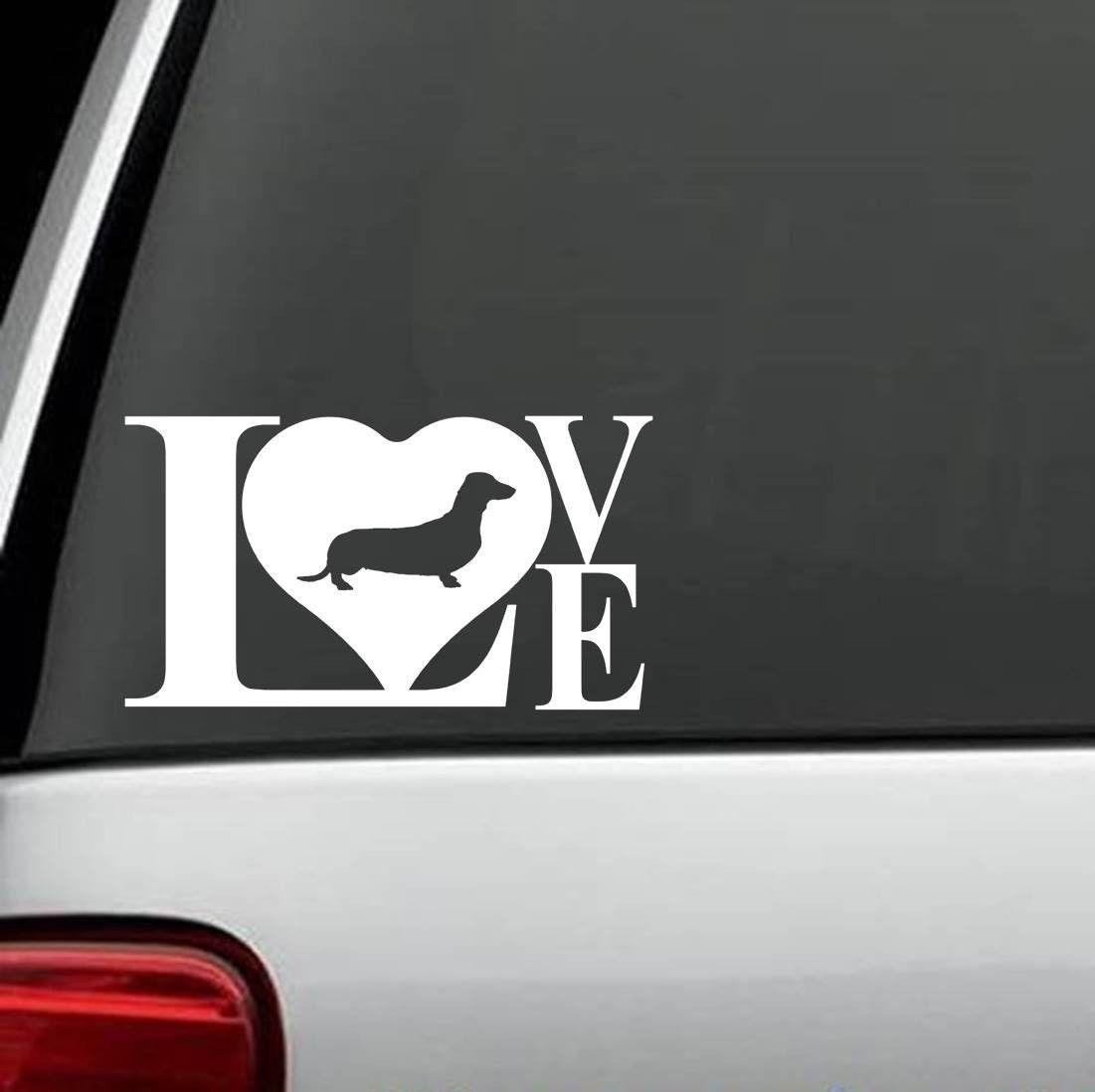 B1077 Dachshund Doxie Love Weiner Dog Decal Sticker Dachshund Love Dog Decals Pug Love [ 1099 x 1101 Pixel ]