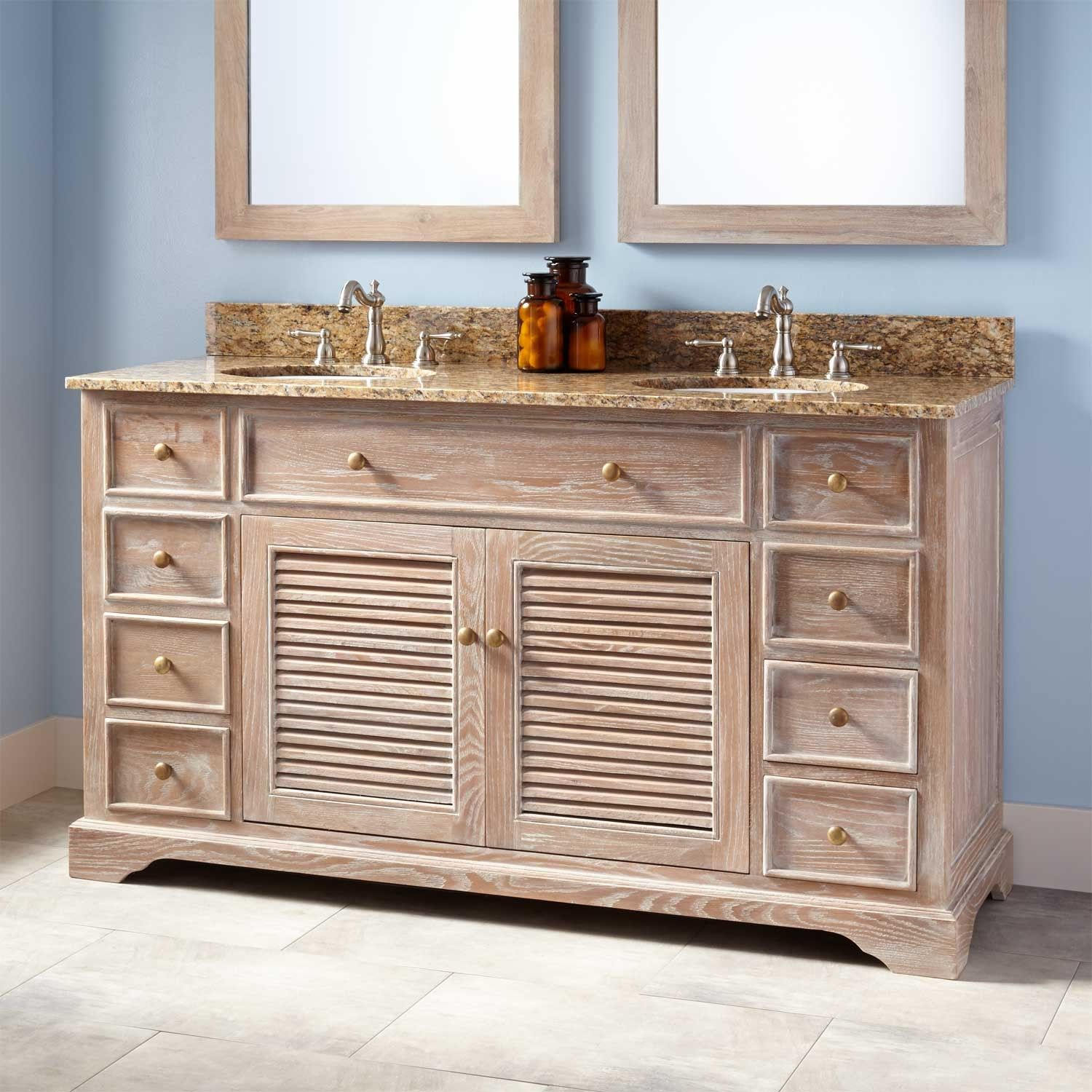 """Undermount Lighting For Kitchen Cabinets: 60"""" Westerfield Double Vanity For Undermount Sinks"""