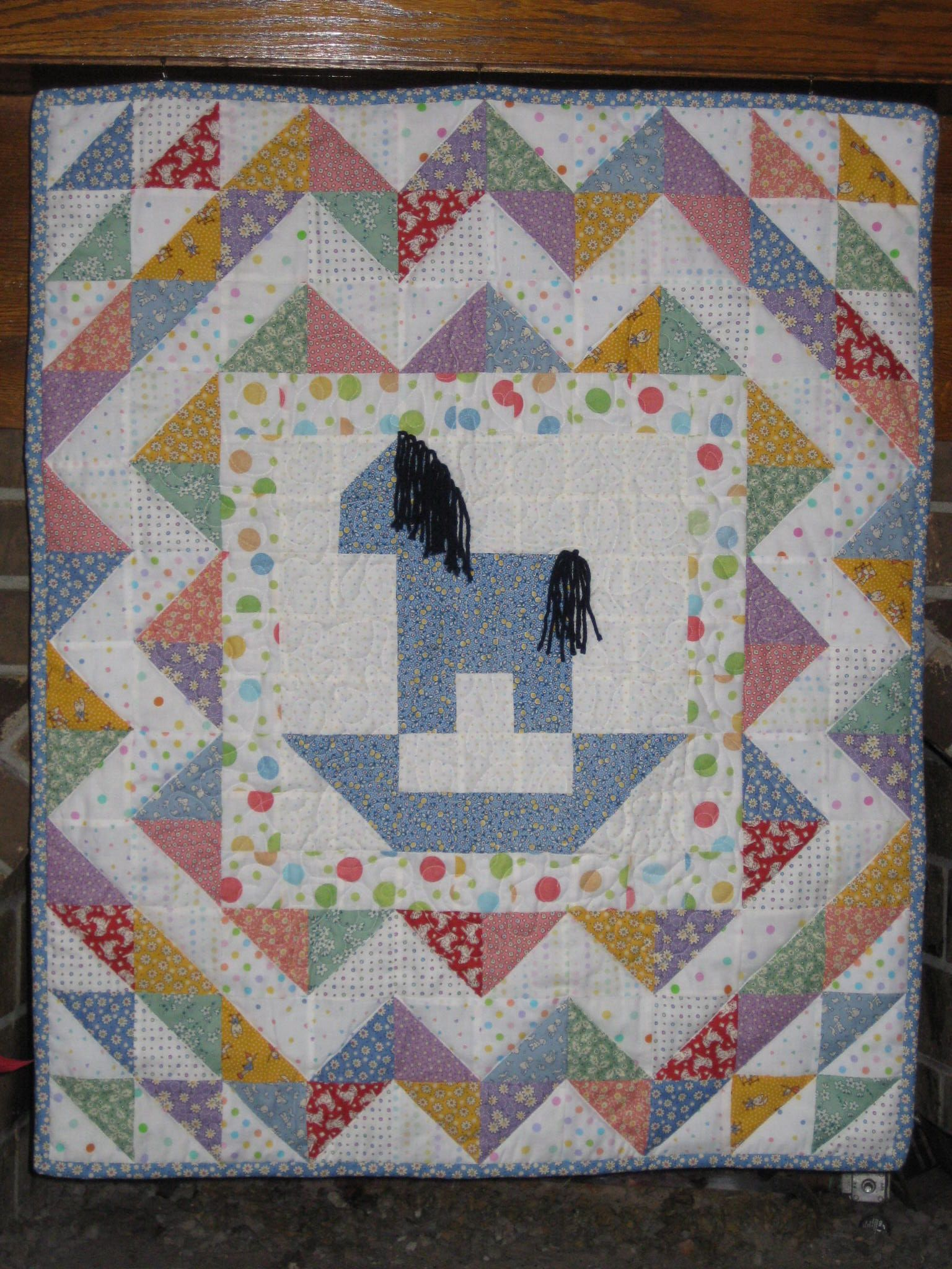 Rocking horse quilt with reproduction fabrics | Quilts | Pinterest ... : horse fabric for quilting - Adamdwight.com