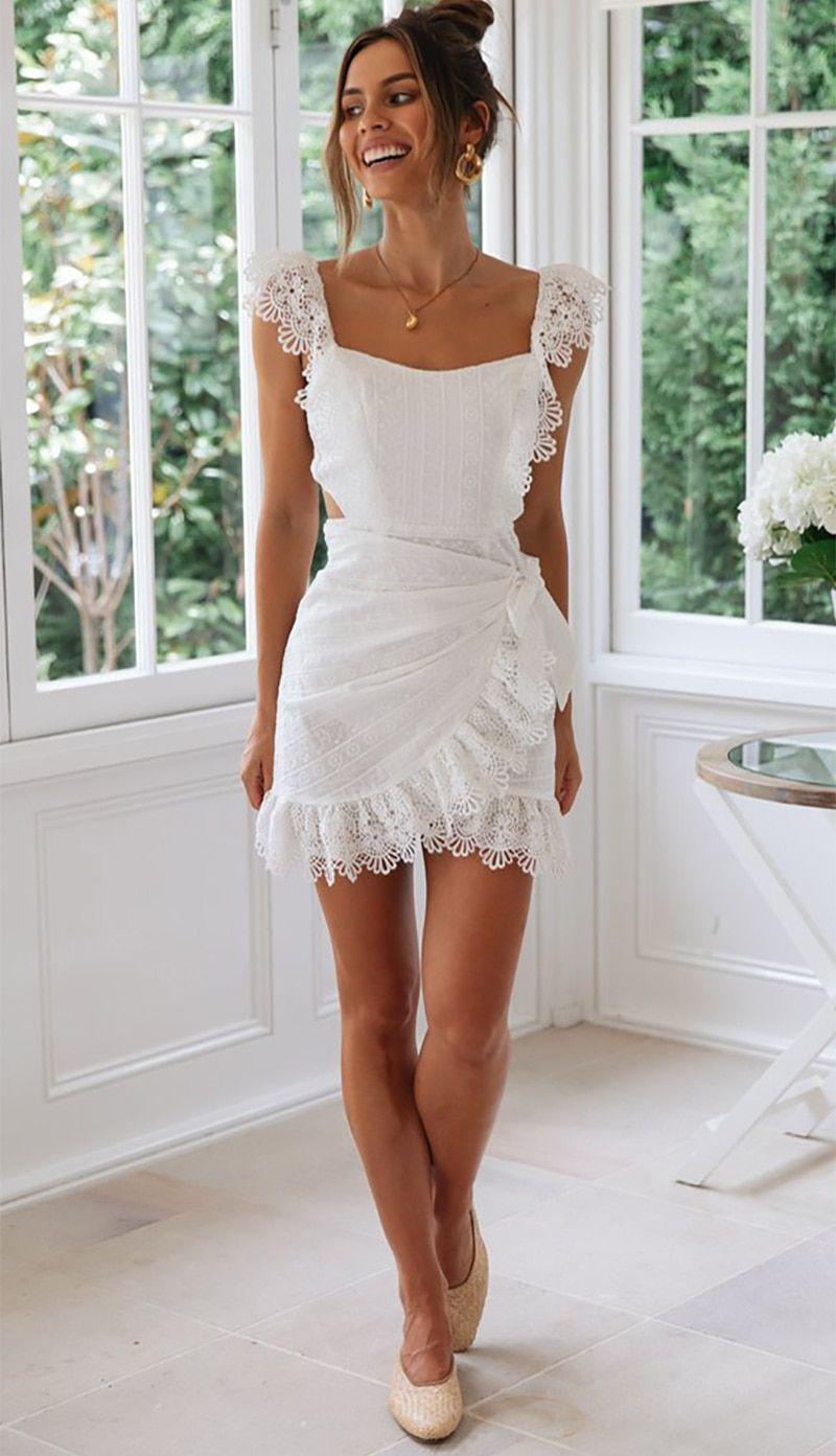 Women S Boho Summer Dress Hollow Out Crochet Lace In 2021 Summer Dresses Bohemian Summer Dresses Boho Mini Dress [ 1393 x 800 Pixel ]