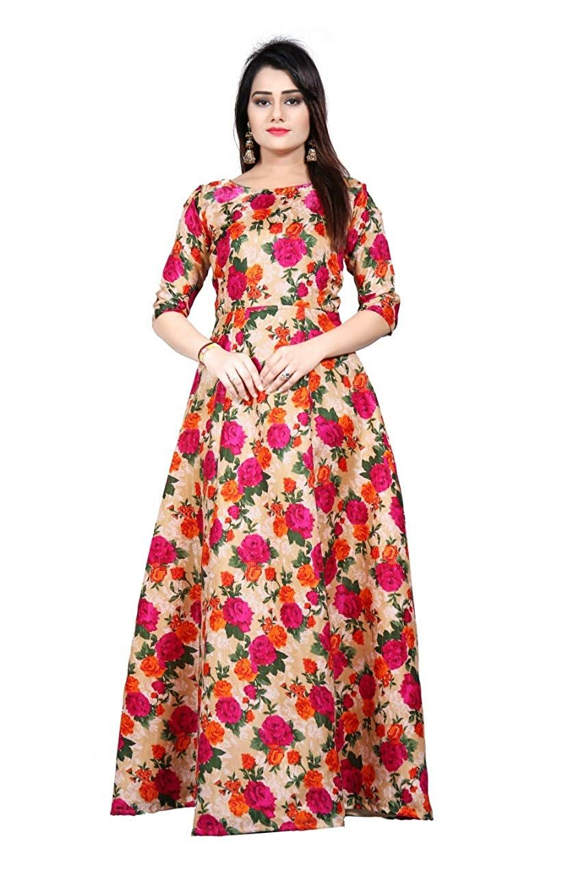 b5e1207fe62 Clothfab Women s Cotton Digital Printed Anarkali Long Gown