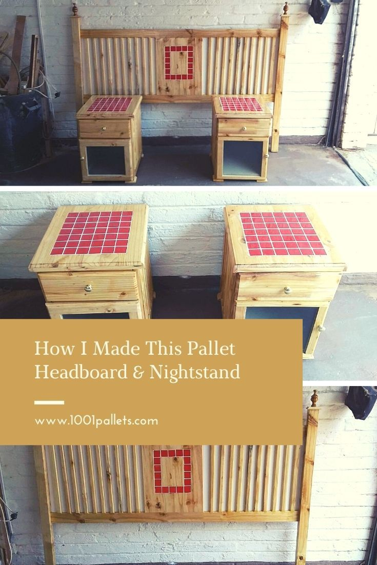 No need to buy a headboard and nightstand. Make it yourself! via @1001Pallets