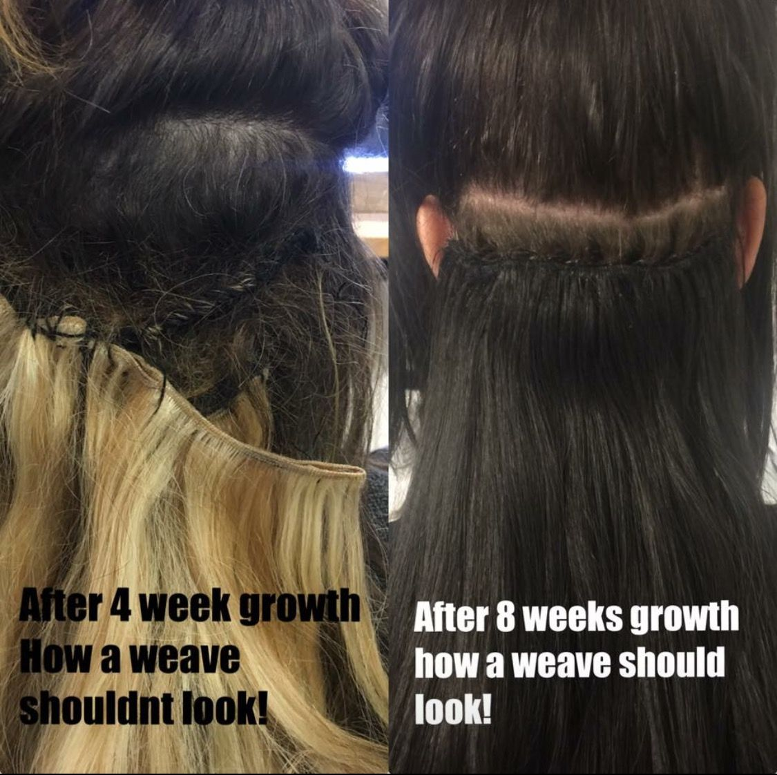 How Your Weave Should Grow Down How Your Weave Should Not Grow