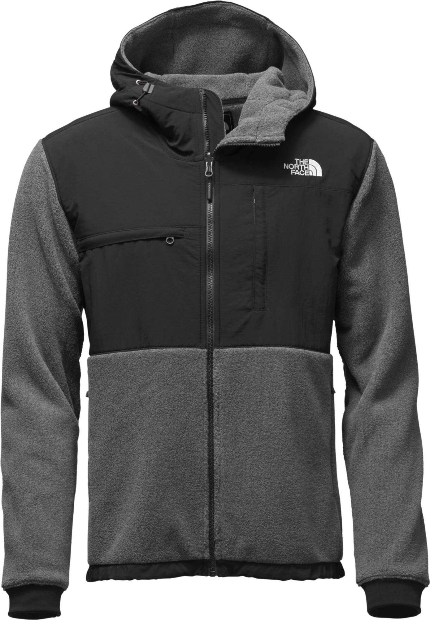 The North Face Men S Denali 2 Hooded Fleece Jacket Size Large Gray North Face Mens Hoodie Jacket Men Men S Coats And Jackets [ 2000 x 1389 Pixel ]