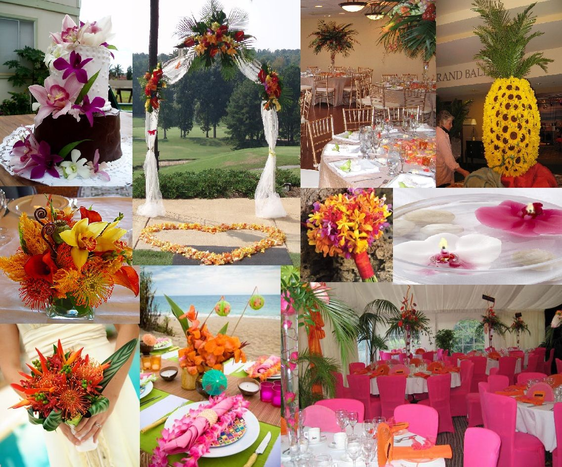 Tropical Themed Wedding Pics All Inclusive Destinations