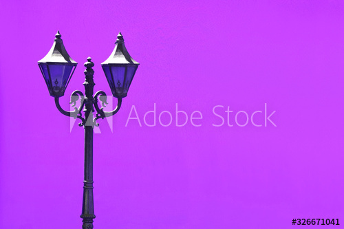 Blue Vintage Streetlamp Against Vivid Purple Concrete Wall Buy This Stock Photo And Explore Similar Images At Adobe Stock A In 2020 Concrete Wall Street Lamp Image
