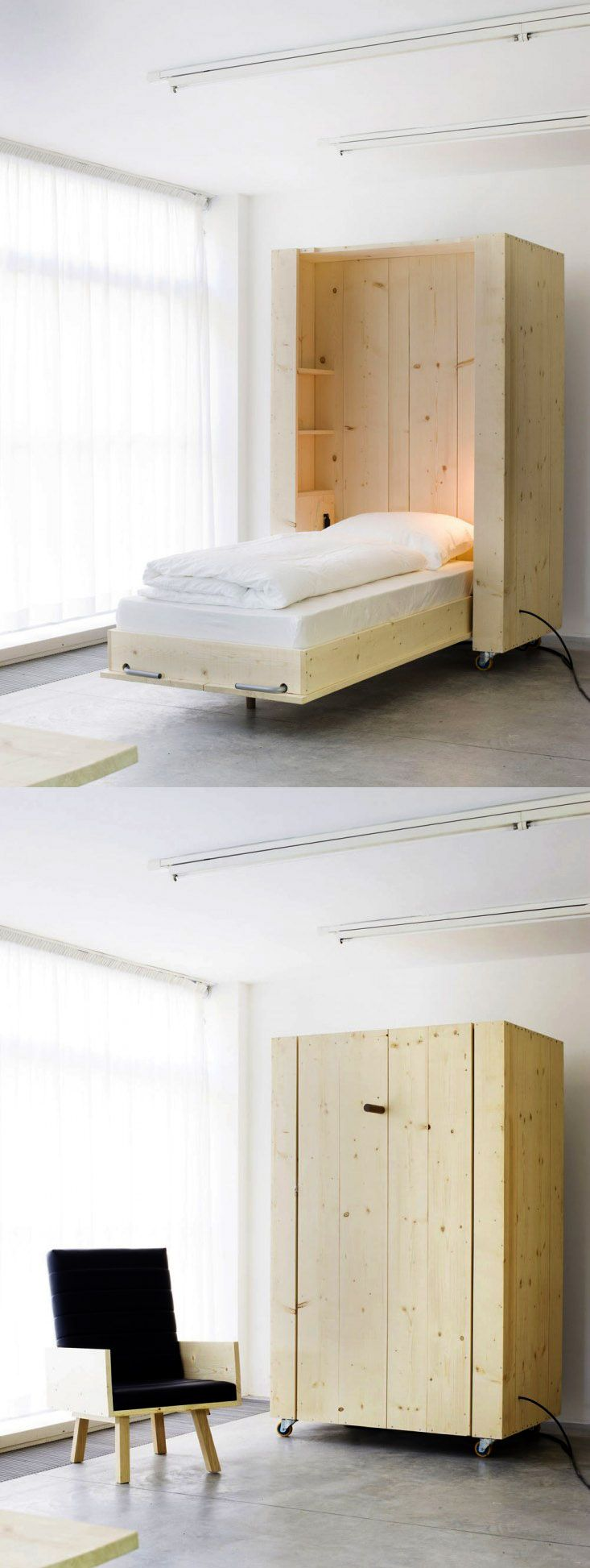 Home bedroom guest room hide a bed cabinet - Find This Pin And More On Home By Lexieburnett A Hidden Bed